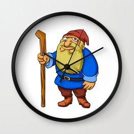 Cute Cartoon Garden Gnome Wall Clock