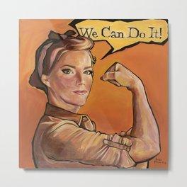 The NEW Rosie the Riveter Metal Print