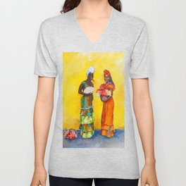 Flower Ladies Unisex V-Neck