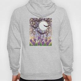 the moon, stars, bats, & calla lilies Hoody
