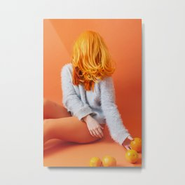 self portrait with oranges Metal Print