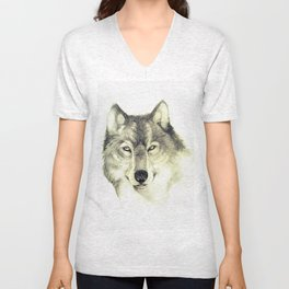 The eyes of Wolf Unisex V-Neck