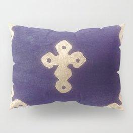 Golden Crosses on Purple Pillow Sham