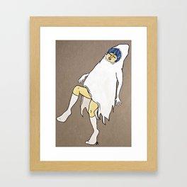 Dancing Girl Ghost Framed Art Print