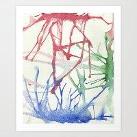 splatter Art Prints featuring Splatter by Alex Camp