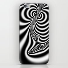 Black and White Fractal 7 iPhone & iPod Skin