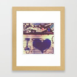i love Framed Art Print