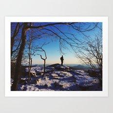 Pulpit Rock, Appalachian Trail Art Print