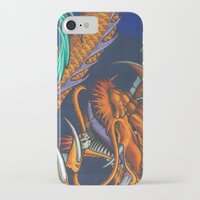 lakers iPhone & iPod Cases featuring Purple & Gold Sado Dragon by SADOstyle