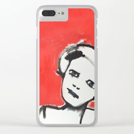 Why y'looking at me like that? Clear iPhone Case
