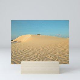 Sand Dune, Sand Ripples, Desert landscape, Socotra Island Mini Art Print