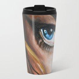 Blue Eye Oil Painting detail Travel Mug