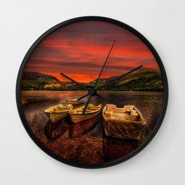 Llyn Nantlle Uchaf  Snowdonia Wall Clock