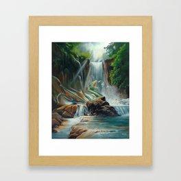 Fishing fantasy dragon Framed Art Print