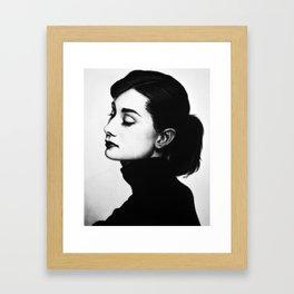 A. Hepburn Framed Art Print