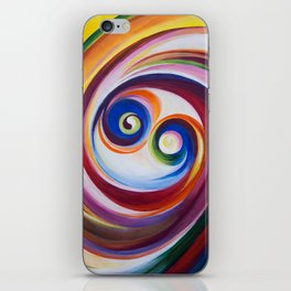 Multicolored spirals iPhone Skin