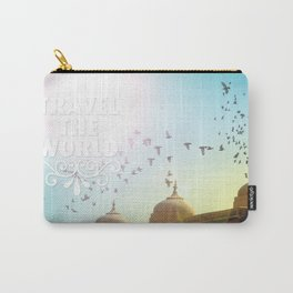Travel the world typography quotation Carry-All Pouch