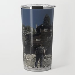 Adventurer ponders if he should go into the Haunted Realm Travel Mug