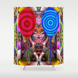 *tHE jUGE tHAT sEE'S aLL* Shower Curtain