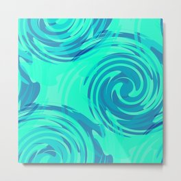 Abstract pattern in turquoise and blue tones. Metal Print