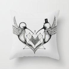 'Humming Birds' Throw Pillow