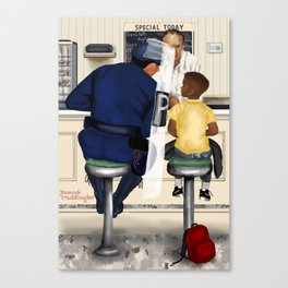 If Norman Rockwell Lived in Today's Society Canvas Print