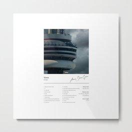 Drake - Views Album Illustration Hip Hop  Metal Print