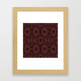 GOTHIC Red Unusual Rose Pattern Framed Art Print