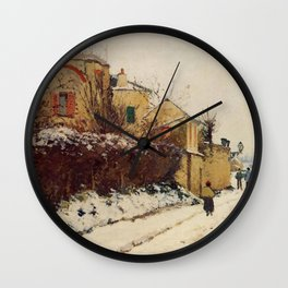 The Street Of The Citadelle Pontoise 1873 By Camille Pissarro | Reproduction | Impressionism Painter Wall Clock