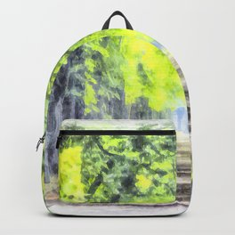 Forest Path Watercolour Art Backpack