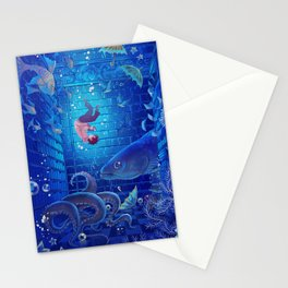 A Sea of Books Stationery Cards