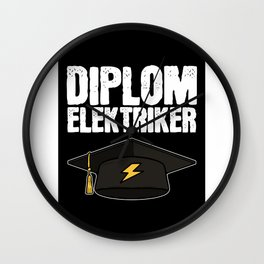 Elektrician Quote Degree Professor Nerd Hipster Om Wall Clock