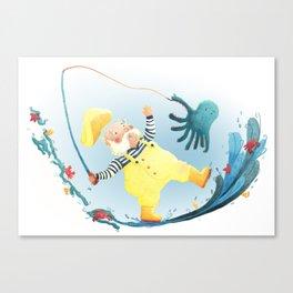 FISHERMAN FRENZY!   Canvas Print