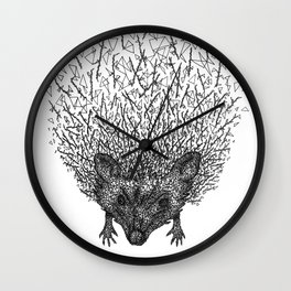 Thorny hedgehog Wall Clock