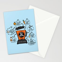 Rise and Shine Smoothie Recipe Stationery Cards