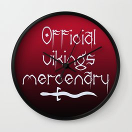 Official vikings mercenary Wall Clock
