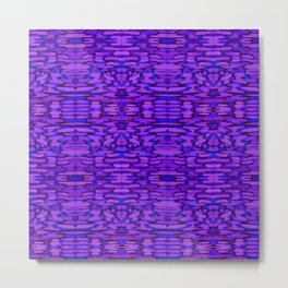 Ultra Violet Ikat Watercolor Metal Print
