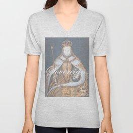 Sovereign: Elizabeth I Coronation Portrait Unisex V-Neck
