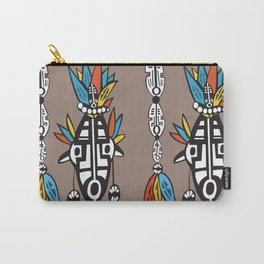African Tribal Mask No. 7 Carry-All Pouch