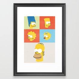 Donuts Family Framed Art Print