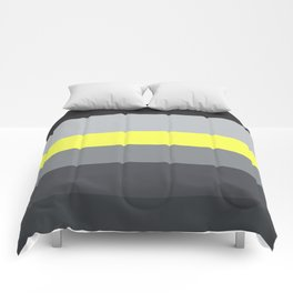 black and yellow Comforters