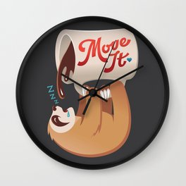 No Slothee Before Coffee Wall Clock