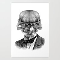 stormtrooper Art Prints featuring Stormtrooper by DIVIDUS