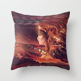 Shadow of a Thousand Lives - Visionary - Manafold Art Throw Pillow