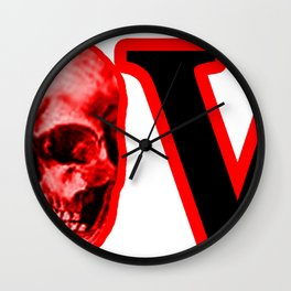 Love Red Skull The MUSEUM Zazzle Gifts Wall Clock