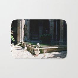 Church Pond in Barcelona Spain color photograph by Larry Simpson Bath Mat