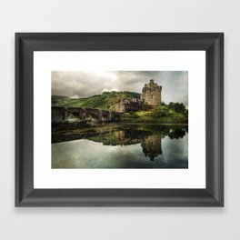 Landscape with an old castle Framed Art Print