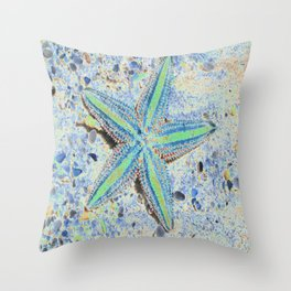 Starfish Abstract Throw Pillow