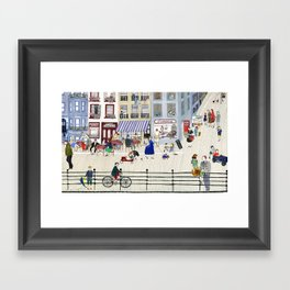 On the dike (in Ostend) Framed Art Print