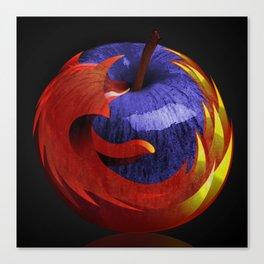 Mozilla Fire Apple Canvas Print